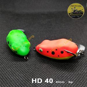 mồi nhái hơi câu cá lóc HD40 và HD40x