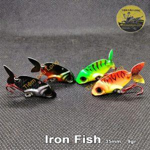 Mồi Cá Giả Iron Fish Độc Lạ Với Đuôi Rung