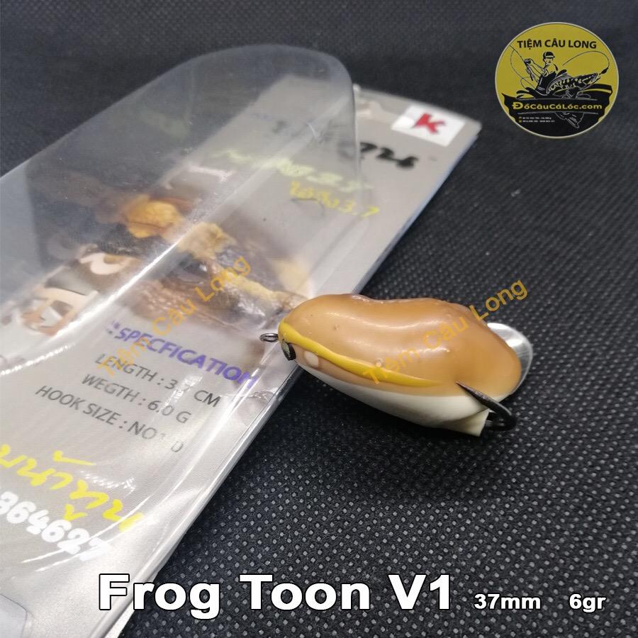 mồi nhái hơi câu lure cá lóc Frog Toon V1