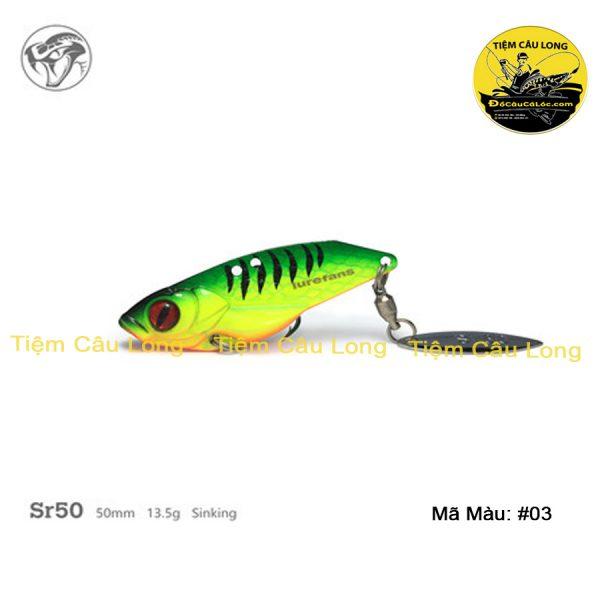 Mồi Cá Giả câu lure cá lóc Sr50 Lurefans Có Thìa Size 13.5gr