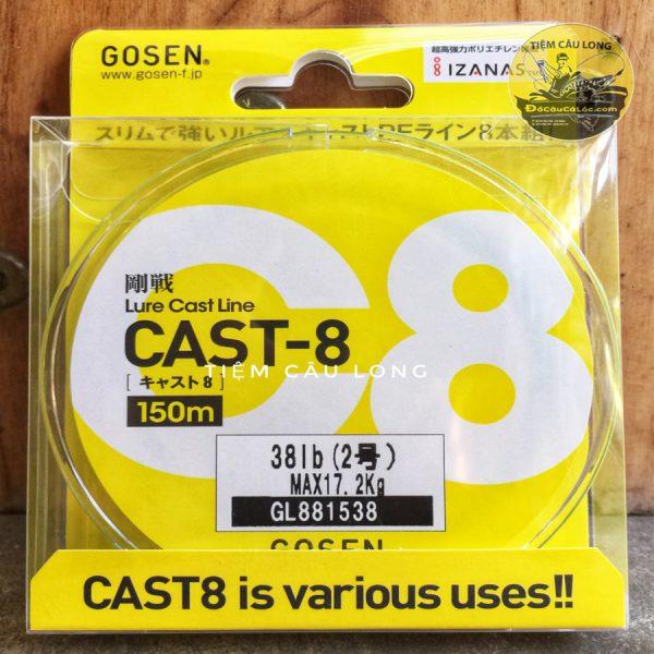 dây pe câu cá lóc Gosen Cast-8 Hàng nhật bản