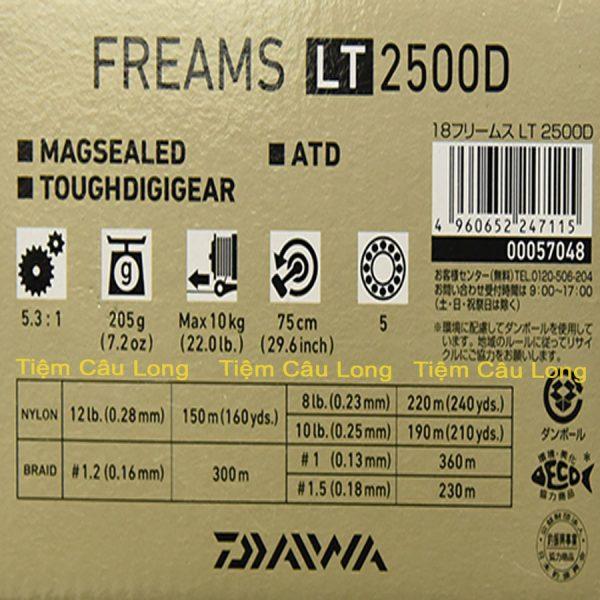 Máy Câu Đứng Daiwa Freams LT2500D LT3000D-C