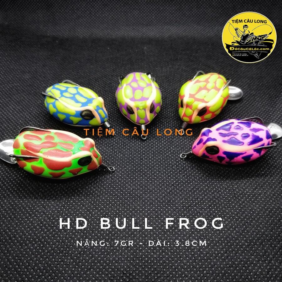 mồi nhái hơi câu cá lóc HD Bull Frog