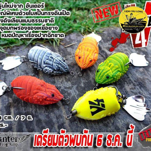 Mồi Nhái Hơi câu cá lóc Hunter V4