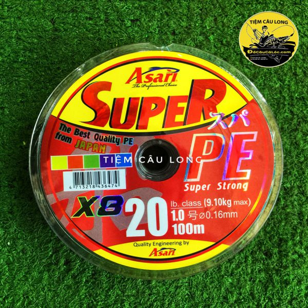 dây nhợ pe câu lure cá lóc Super Asari
