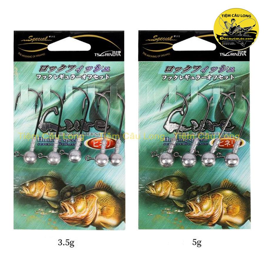 Lưỡi câu mồi mềm Jig Head Size 3.5gr/5gr/7gr TSURINOYA
